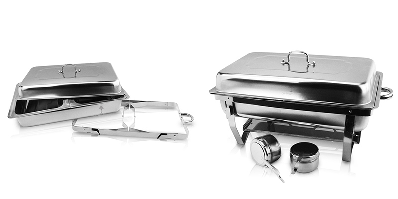 folding chafing dish set oem stainless steel
