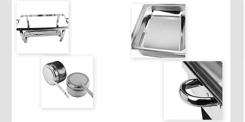 folding chafing dish set ODM stainless steel