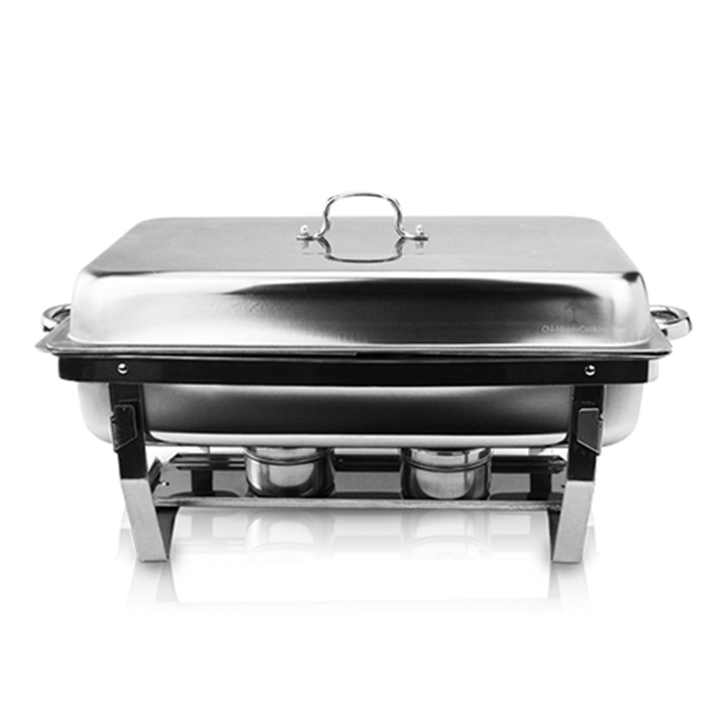What does the Stainless steel folding chafing dish set?