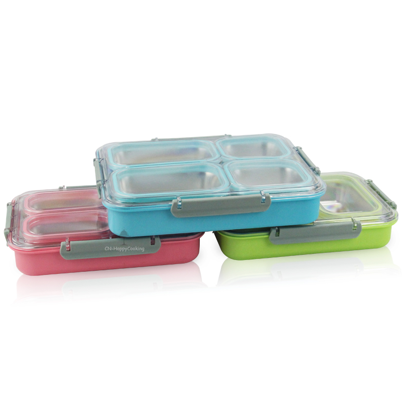 Simple stainless steel square Lunch boxes!
