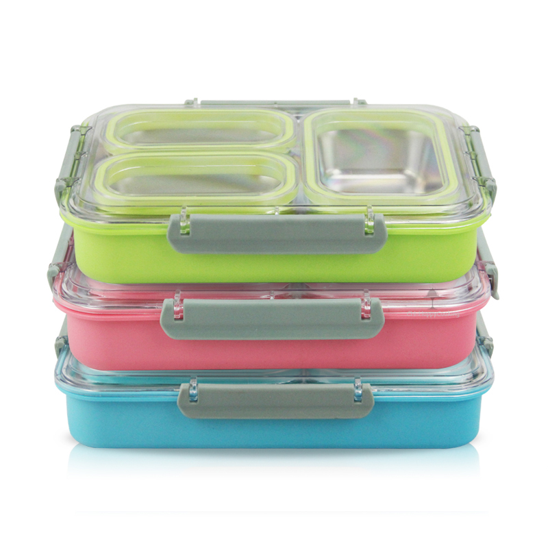 3 /4Compartments Stainless Steel Lunch boxes for Adults, School, Work!