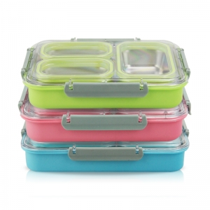 3 /4Compartments Stainless SteelLunch boxes for Adults, School, Work!