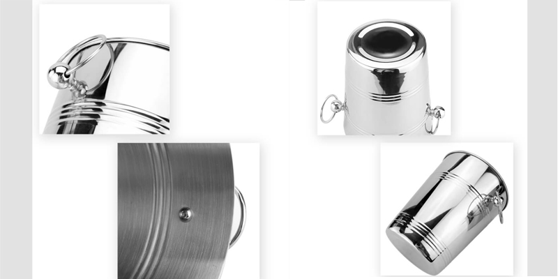 large  ice bucket ODM stainless steel
