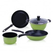 Multi-Function 4-Piece Non-Stick Induction Cookware Set, Cooking Pots including Saucepan HC-01719-A