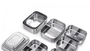 Lunch Box Steel Metal Lunch Boxes, Stainless Steel Lunchbox Food Storage Containers with HC-02934