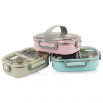 Stainless Steel Leakproof Bento Box with 2 Compartments Food Container with HC-03120-C