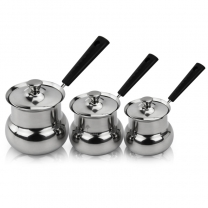 Turkish Coffee Mug Coffee Tea Cups Stainless Steel Butter Melting Mini Pots with Lid HC-03311
