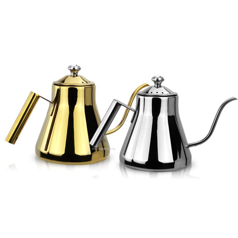 Stainless Steel Narrow Long Mouth Coffee Pot Water Tea Coffee Pot Kettle Coffee BaristaToolsHC-01510