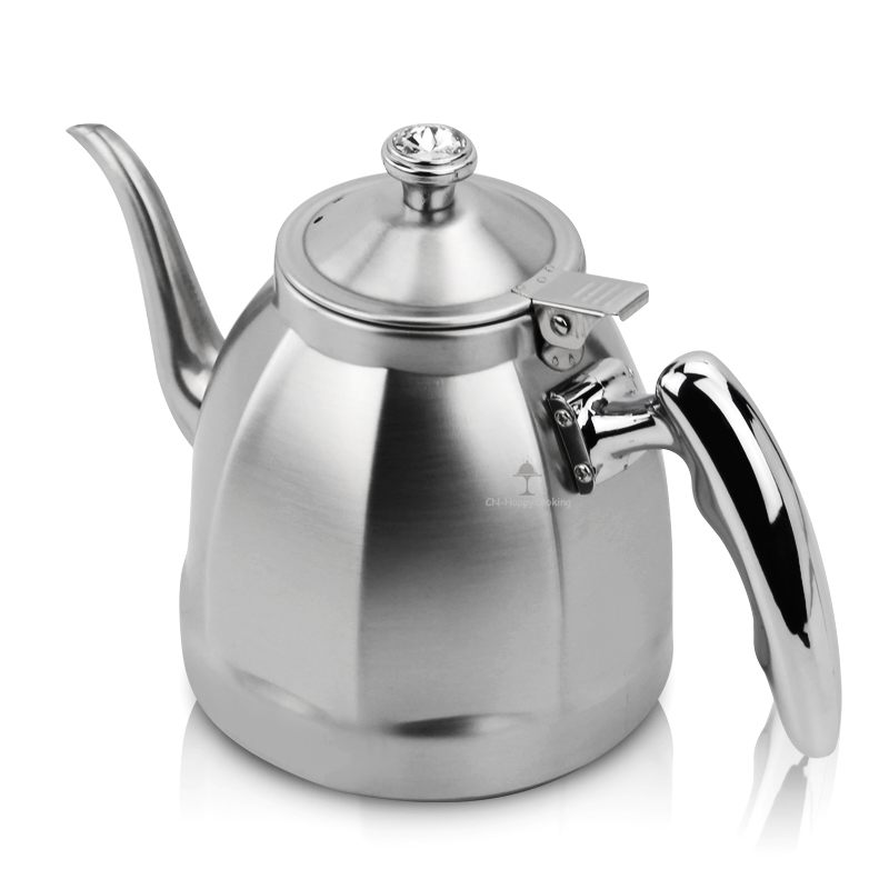 StainlessSteel Unique Tea Pot with Tea Strainer Multifunction Kettle Mirror Finish Teapot HC-01512-B