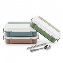 Bento Lunch Box with Cutlery  Square Compartments Lunch Box Divided Food  Lunch Container HC-02918-A