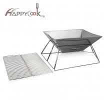 BBQ Grill Pan Metal wire net reusable Heat resistance bbq mesh Outdoor Grill Camping HC-02821