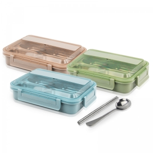 This bento box is made food grade 304 stainless steel !