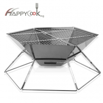 Easy Barbecues Tool Set Charcoal Tools Stainless Steel Camping Picnic Grill Portable Grill HC-02822