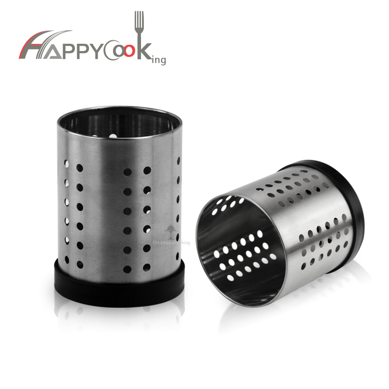 Chopsticks Holder Steel Kitchen Tools Cutlery Holder Metal Utensil Holder Rust-Proof  HC-02805-D