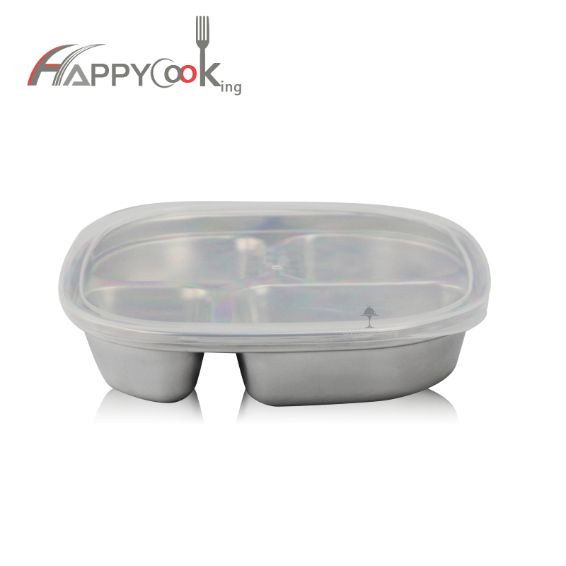 Stainless Steel Dinner Tray Food Container Restaurant Tray Divided Food Serving Tray HC-00619-B