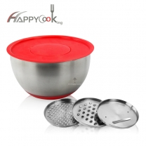 Stainless Steel Salad Mixing Bowls Set Premium Nesting Bowls Salad Bowl Cutter HC-00202-D