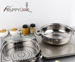 Professional Induction Safe Stainless Steel Steamer Cooker Set Sturdy Steamer Pot HC-02006-B