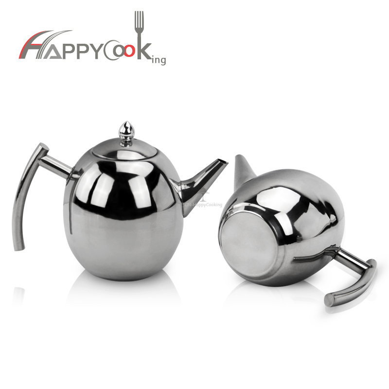 Polished Stainless Steel Thermal Teapot Tea Pot Stainless Whistling Kettle HC-01416