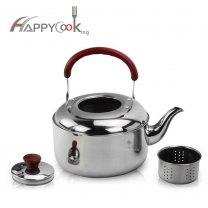 Stainless Steel Teapot Coffee Pot Teapot Alcohol Kettle with Tea Infuser Filter Basket HC-01415-A