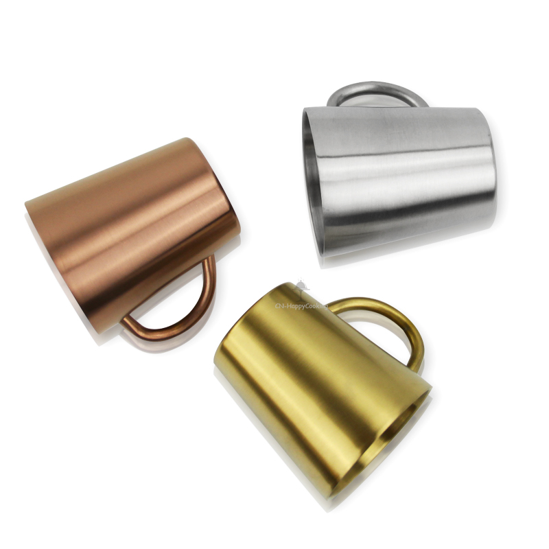 Coffee Mugs Stainless Steel Cup Double Wall Cup With Handle Stainless Steel Food Grade Cups HC-03321