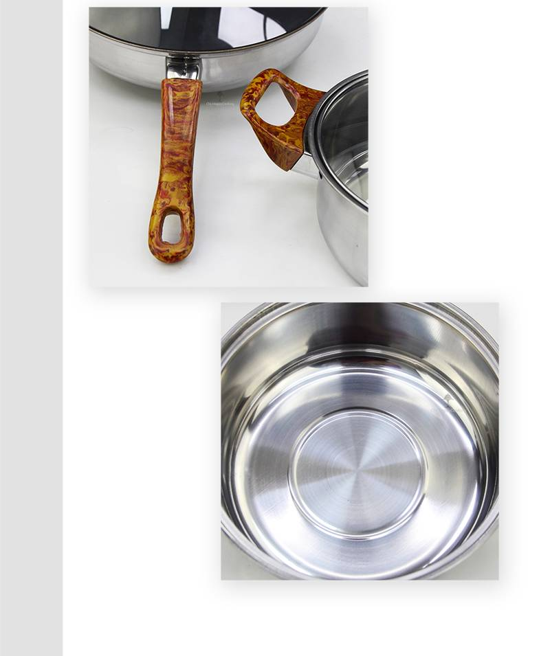 Pots and pans manufacturer Set of cooking stainless steel wholesaler