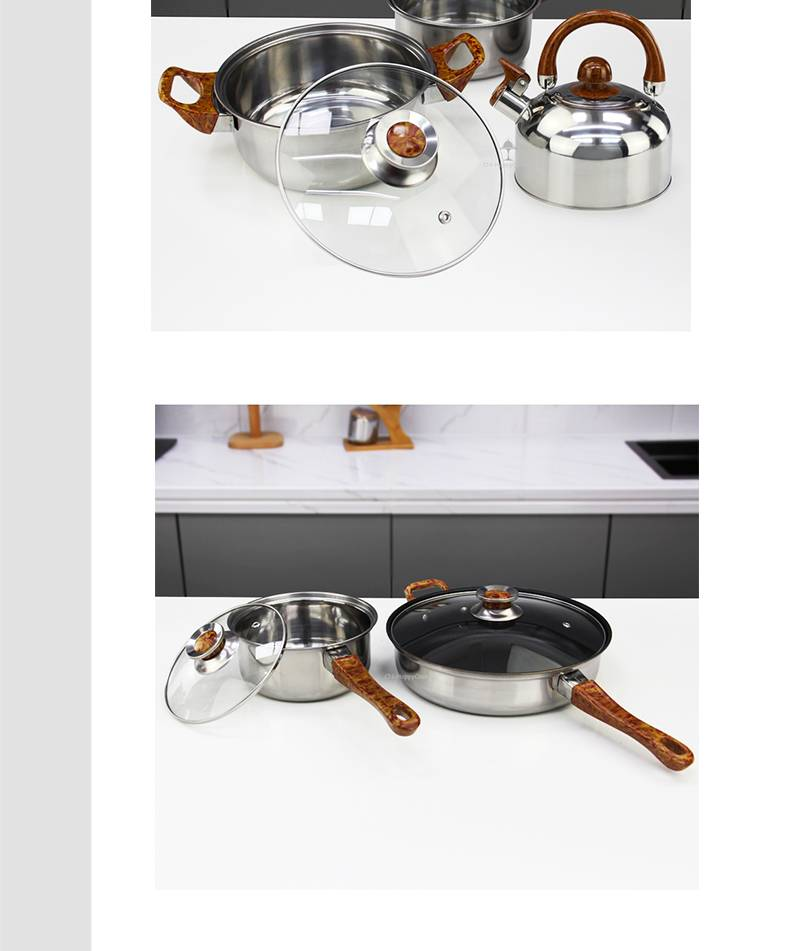 Pots and pans manufacturer Set of cooking stainless steel