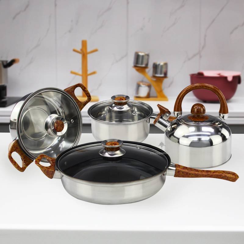 Pots and pans OEM  Set of cooking stainless steel