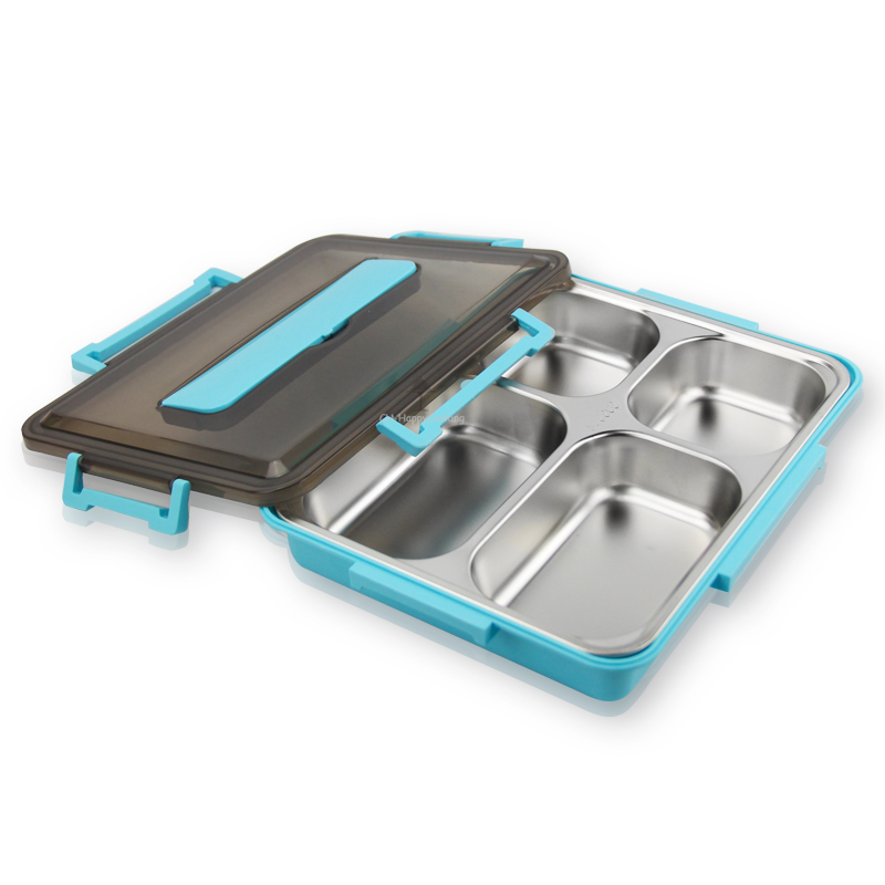 Stainless Steel Lunch Container 4 Compartment Lunch Box Food Container Box HC-02938-A