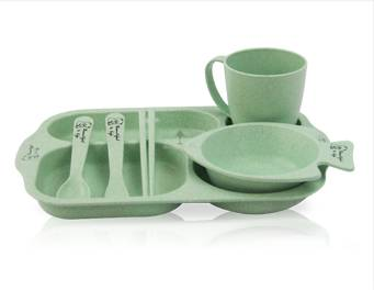 Wheat Straw lunch box  ODM child plate supplier