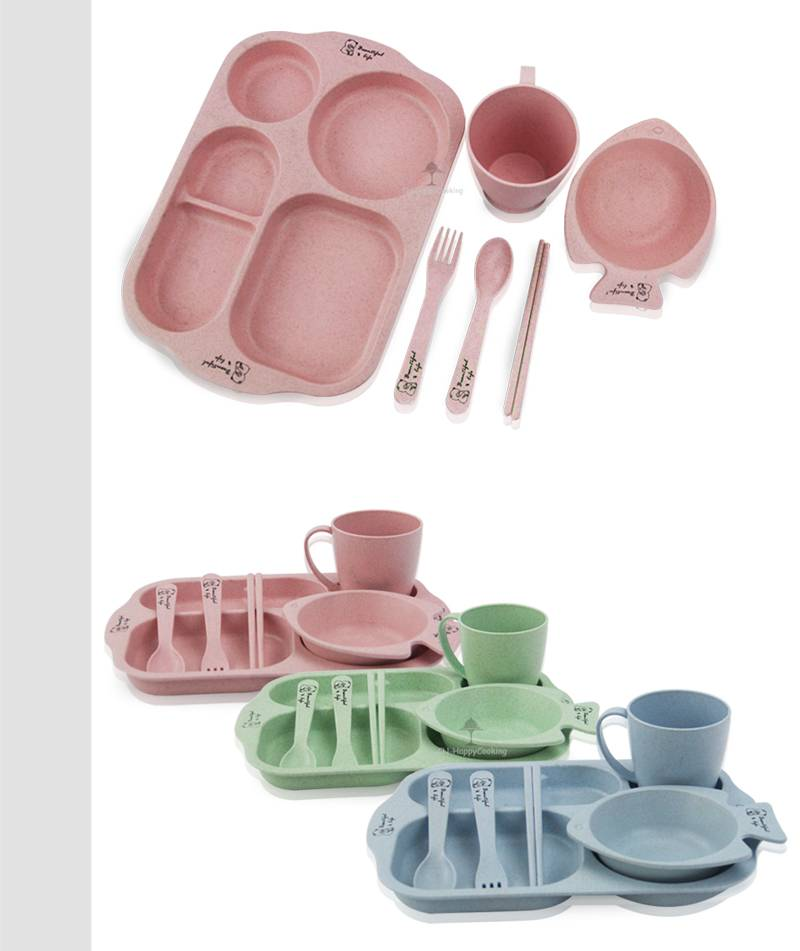 Wheat Straw lunch box manufacturer child plate
