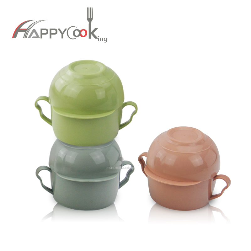 Bento Box  Insulated PP Lunch Box Thermal Food Container Steel Plastic Lunch Box HC-02926