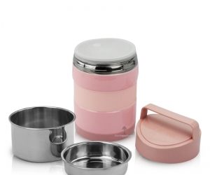 Stainless Steel Insulated Food Warmer Lunch Box Thermal Food Container Food Carrier HC-02936
