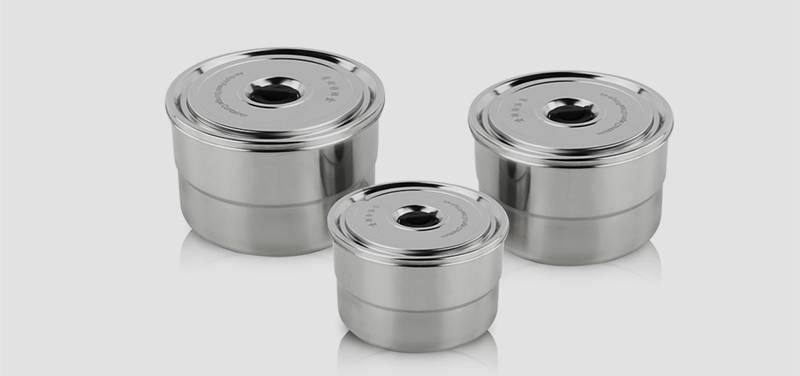 stainless steel containers oem Steel Shave Bowl With Lids
