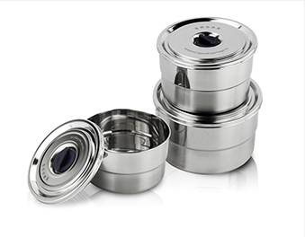 stainless steel containers  ODM Steel Shave Bowl With Lids supplier