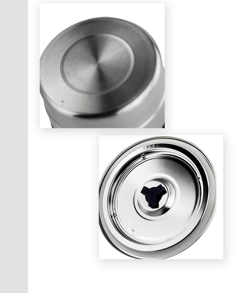 stainless steel containers OEM Steel Shave Bowl With Lids factory