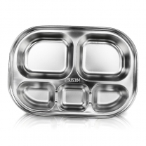 Stainless Steel Lunch Dinner Tray Canteen Tray for School Canteen Personal Dining RestaurantHC-00623