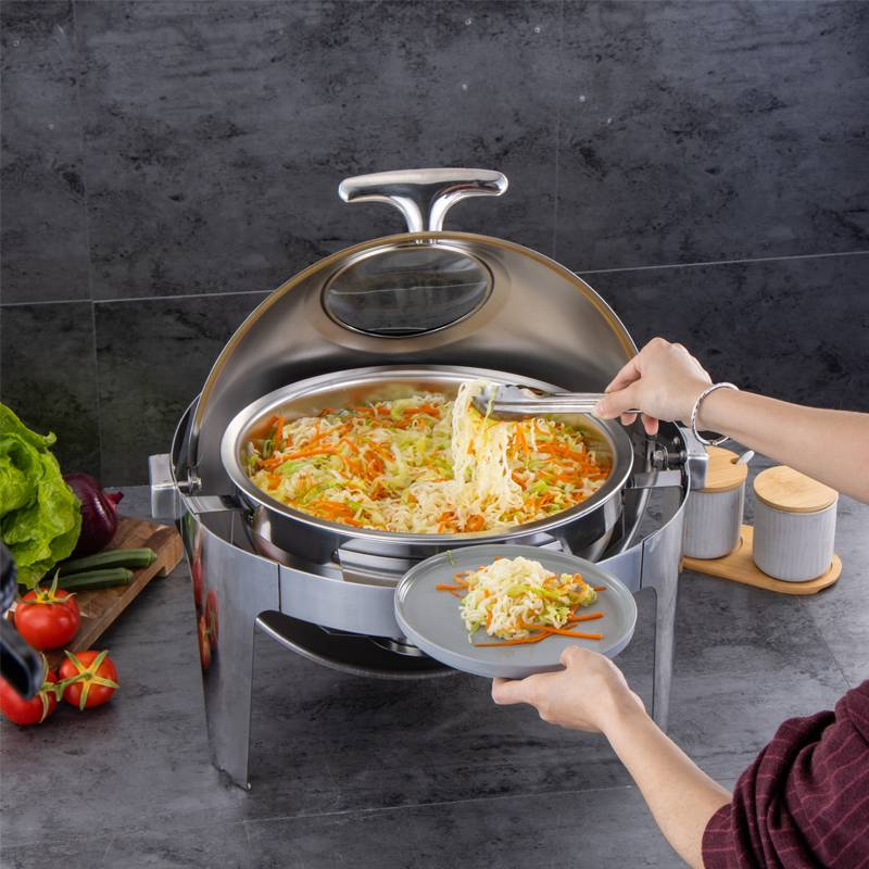 Roll top chafing dish equipment for buffet  with stainless steel of fashionable designed HC-02401