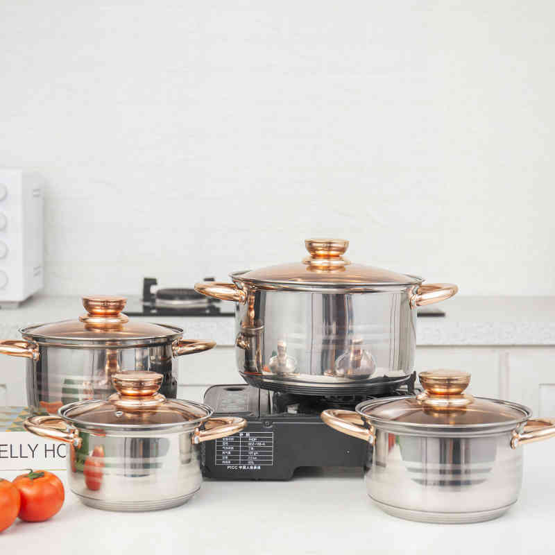 High quality 201 Stainless steel pot set nice cookware set for kitchen HC-0032